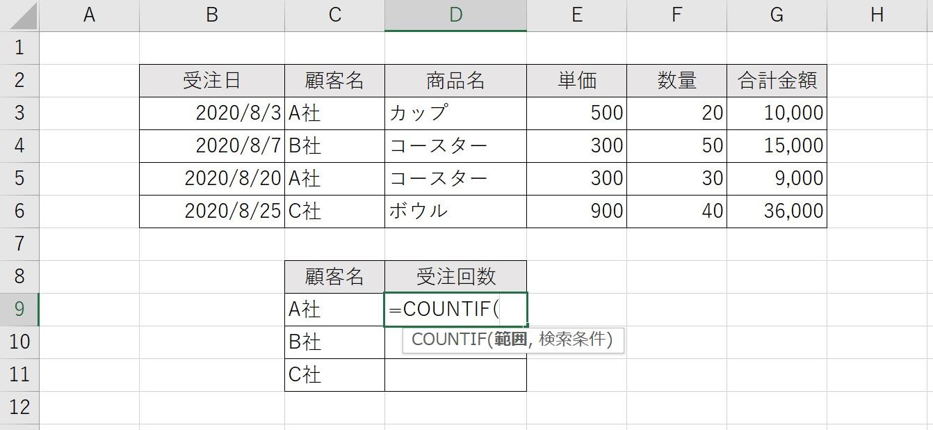COUNTIF関数01
