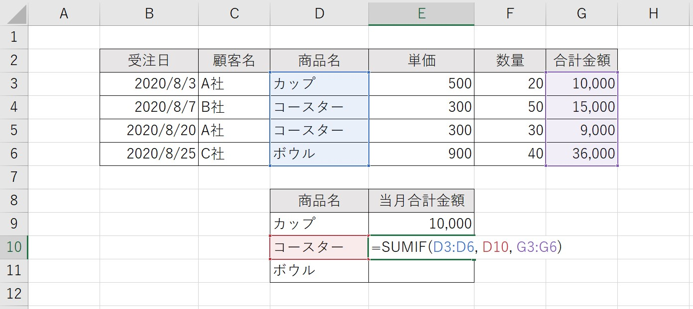 SUMIF関数02