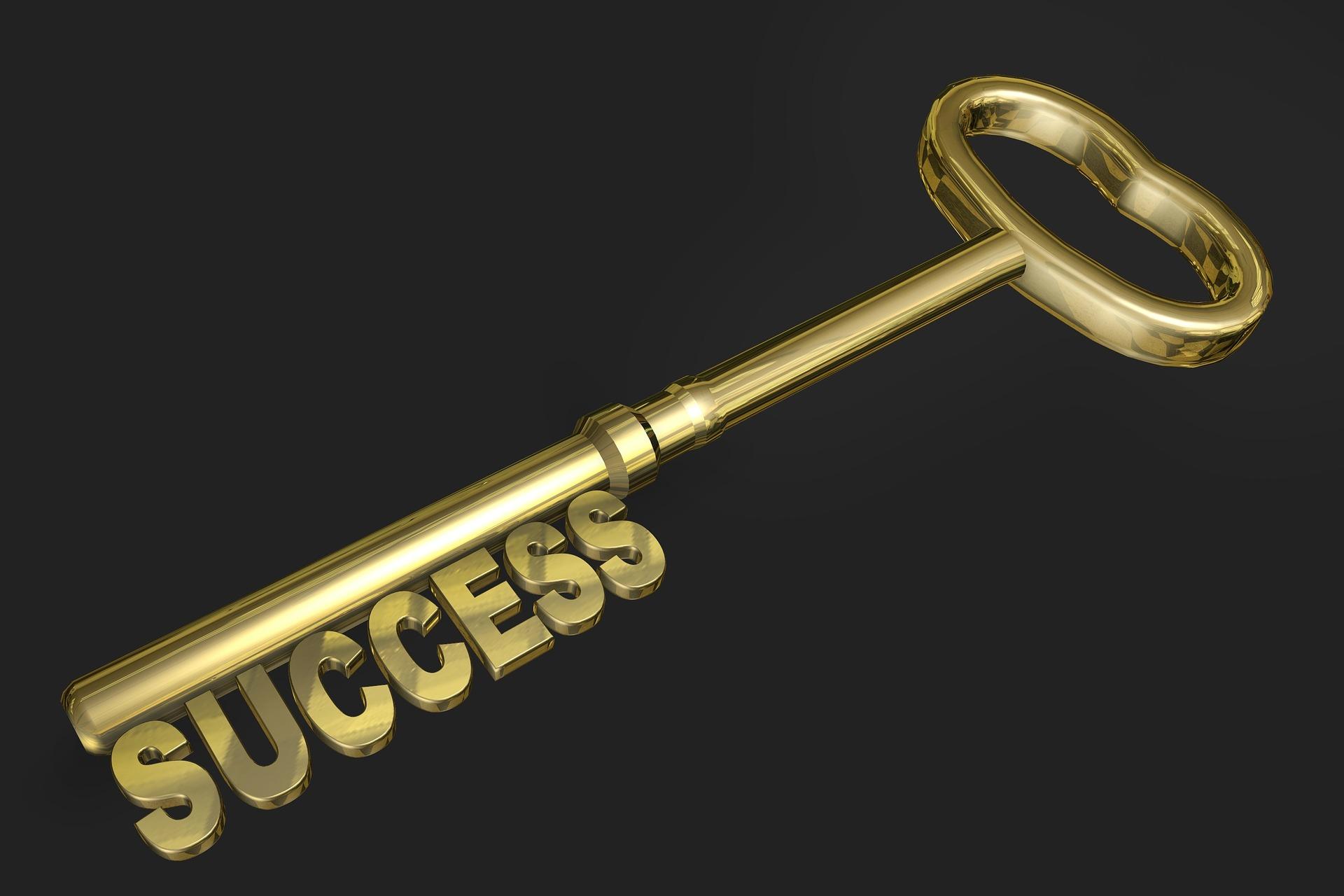 SUCCESSと書かれてる鍵